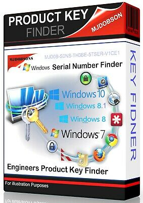 Serial/Product  Number Finder Windows 10/ 8.1 /8 /7 /Vista /XP Recover