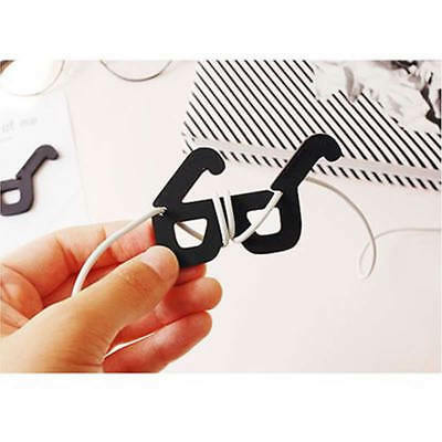 1PCs Earphone Headphone Winder Glasses Holders Wrap Cable Cute Cable Cord