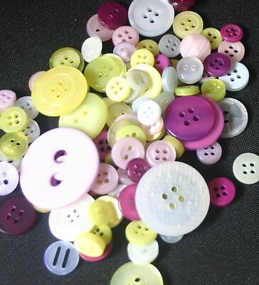 100 Spring Resin Buttons - Sewing, Craft, Scrapbooking, Quilting