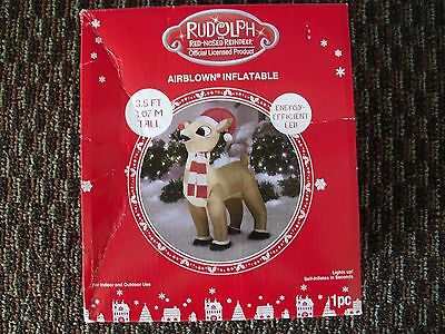 Christmas Rudolph the Red Nosed Reindeer Airblown Inflatable Lights Up