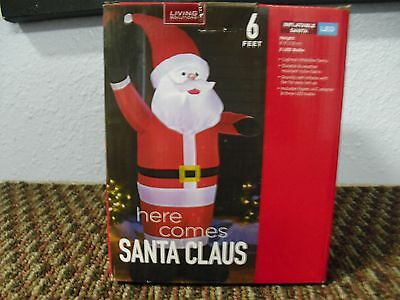 Christmas Living Solutions Santa Claus Inflatable Lights Up