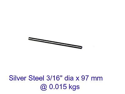Silver Steel 3/16 dia x 97 mm ( Water ) -Tools-Lengths-Lathe-Mill-Steam