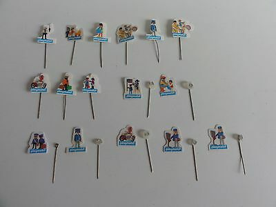 playmobil vintage set of pins/pin/σήμα/divisa/Abzeichen/badge all used state !