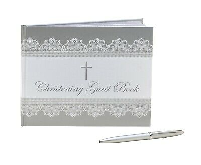Guest Book Christening Foil With Pen