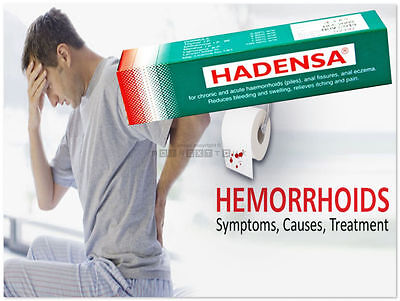 40g Hadensa Ointment Tube For Piles Anal Fissures Eczema Itching Pain  #YISXN-HY