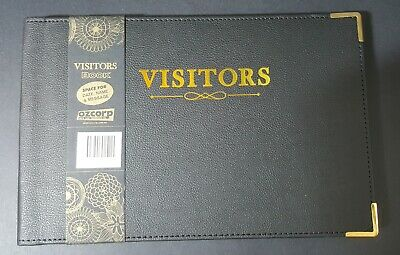 Ozcorp Visitors Book 250 x 160mm 128 Page GBK07 - Black