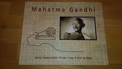 2011 India INDIPEX 2011 Mahatma Gandhi Khadi Stamp MS Folder MNH