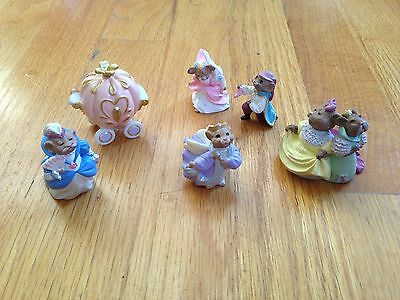 Hallmark Merry Miniatures 1995 Cinderella Lot Set of 6