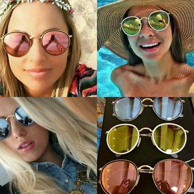 e7275a06e4 RAY BAN RB3517 Round Folding Metal Gold frame   Pink Mirrored lens ...
