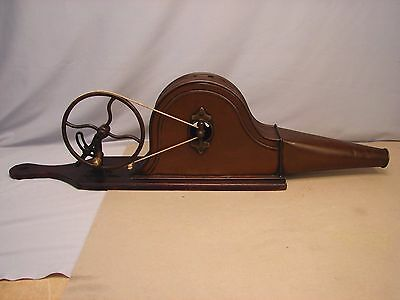 Antique Primitive 1800s Mechanical Bellows Fire Starter with Original Surface