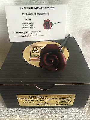 Fragile World Harmony Kingdom Artst Neil Eyre Designs Red Rose with stem LE12