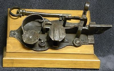 Antique Hand Forged lock and key