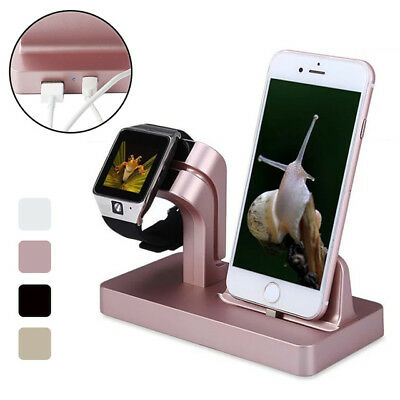 Charging Dock Stand Station Charger Holder for Apple Watch iWatch iPhone 7 6Plus
