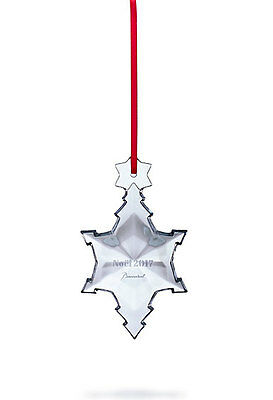 Baccarat 2017 Item# 2811189 Annual Snowflake Ornament, Clear