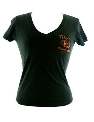 Titos Vodka Ladies V-neck Tshirt New