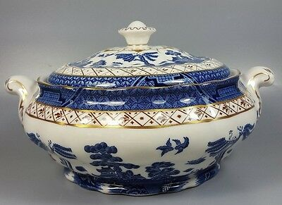 Royal Doulton Booths Real Old Willow Tc1126 Covered Vegetable Dish / Tureen