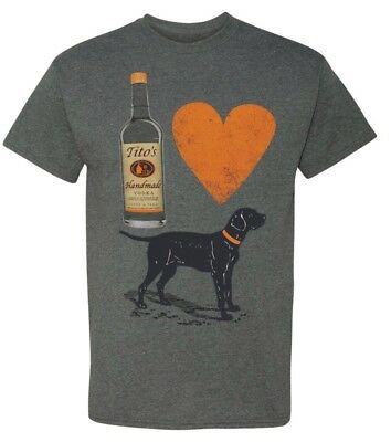 Titos Vodka For the Dog Lovers Shirt New
