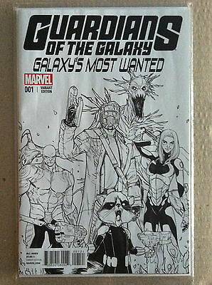 GUARDIANS of the GALAXY 'GALAXY'S MOST WANTED' #1 SARA PICHELLI 1:25 VARIANT VF+