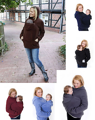 Many Colours Babywearing Vest Long Sleeve Fleece Hoodie Great For Autumn S-3Xl