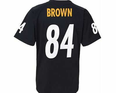 Pittsburgh Steelers Youth T-Shirt NFL Brown Player Performance Name & Number Tee