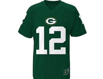Green Bay Packers Youth T-Shirt NFL Rodgers Player Performance Name & Number Tee