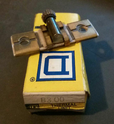 Square D B3.00 Overload Relay Thermal Unit Heater *New in Box*