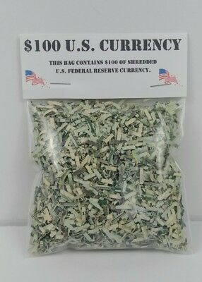 Shredded US Money $100 of shredded CASH currency Authentic Federal Reserve