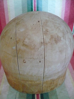 Old Wooden Millinery Block, Hat Mold, Form # 796,Size 22 1/2, Midwest H B & D Co