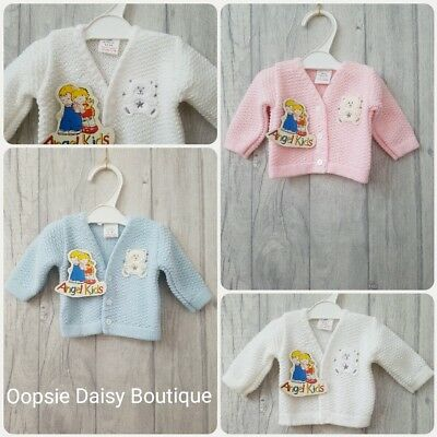 SALE - Premature Small Baby Gorgeous Teddy Bear Cardigans Boys & Girls ☆