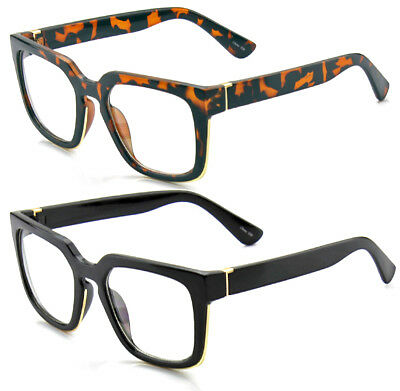 Mens Womens Retro Holbrook Clear Lens Glasses Fashion Square Frame Nerd Eyewear