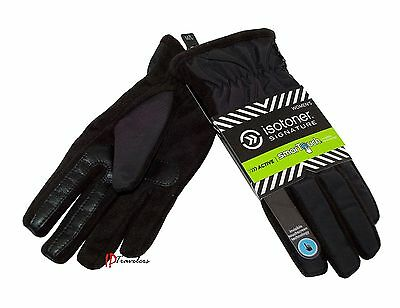Isotoner Signature Women's Gloves Black SmarTouch Thermaflex Core Lining $48