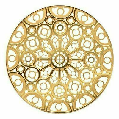 Gold Colored Chartres Cathedral Rose Window Ornament Decoration  Dia: 2.75""