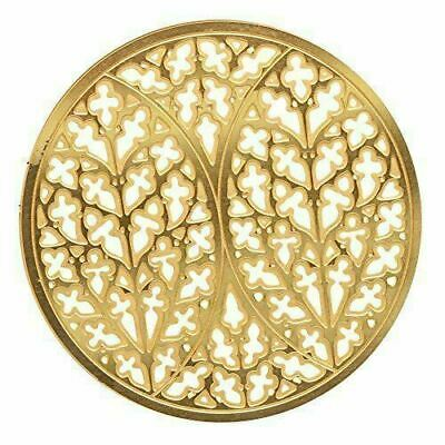 Gold Colored Lincoln Cathedral Rose Window Ornament Decoration  Dia: 2.75""