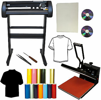 "15x15 Heat Press,24"" 500g Metal Vinyl Cutter Plotter,Heat Transfer Paper PU DIY"