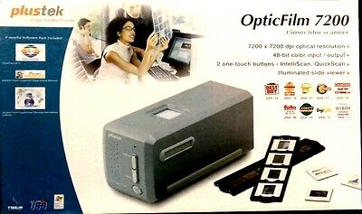 Plustek OpticFilm 7200 Photo, 35mm Slide & Film Scanner 48-bit color w/ Win7 app