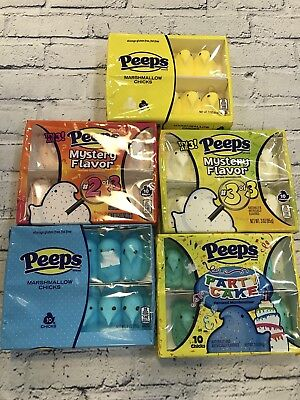 Marshmallow Peeps 10 Chick Pack Full Case 36 Box Mystery Flavor #2 Party Camping