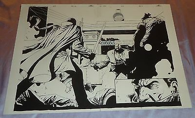 Herbert SHADOW 7 pages 2 & 3 DOUBLE SHADOW SPLASH PAGE - VILLAIN DUEL