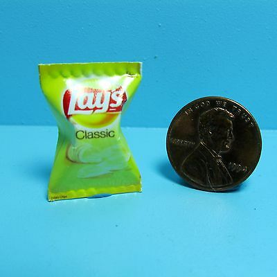 Dollhouse Miniature Replica Bag of Lays Classic Potato Chips ~ G065