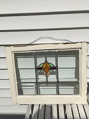 Antiques Architectural Stained Glass Window