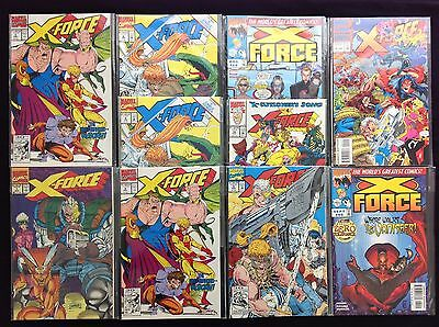 X-FORCE Lot of 10 Marvel Comic Books - #1 5 5 6 6 9 16 68 69 & Annual 2!