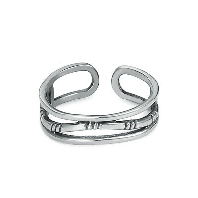 316L Stainless Steel Women Girl Fashion Silver Adjustable Open Toe Ring Jewelry