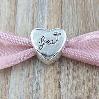Authentic Pandora Sterling Silver Heart of Freedom Charm #791967