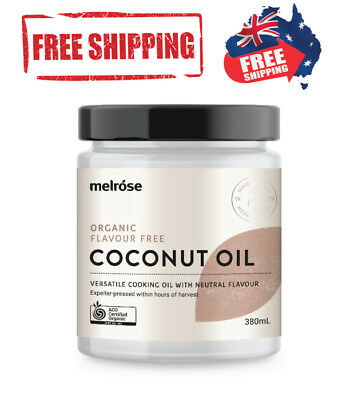 Melrose ORGANIC Unrefined 100% Pure Virgin COCONUT OIL Cold Pressed 300g