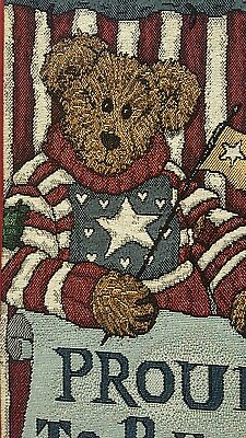 NWT Boyds Bear Proud To Be A Bearmerican Bell Pull