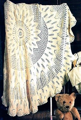 KNITTED BABY AFGHAN - A Vintage 1941 Knitting Pattern
