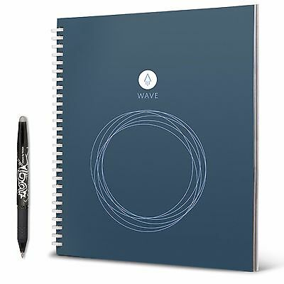 Rocketbook Wave Reusable Notebook (Includes Pilot FriXion Pen) - Standard Size