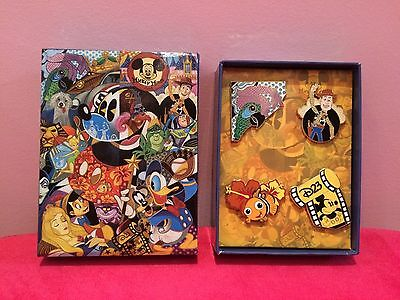 Disney D23 Member In The Company Of Legends Mystery Pin Box Set Of 4 Pins LE