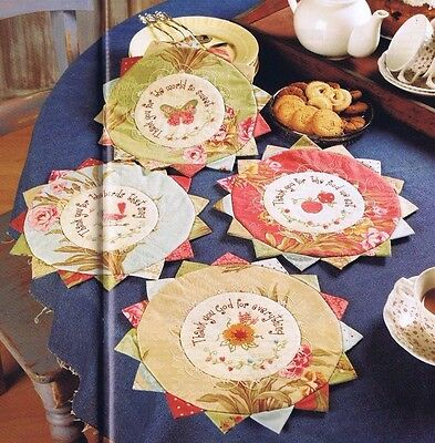 Quilting & Patchwork Magazine, 11 Patterns Coasters Table Cloths Wall Hanging