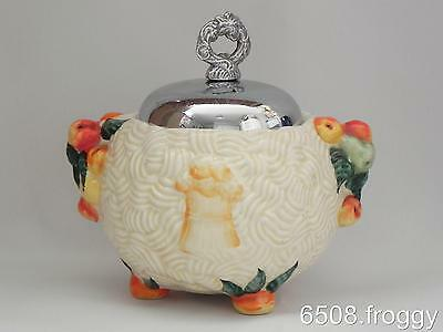 VIntage CLARICE CLIFF **Celtic Harvest** SUGAR BOWL - Very Good