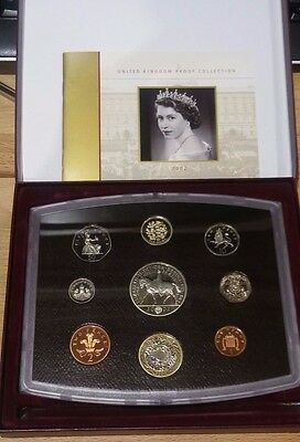 2002 Royal Mint GB UK 9 Coin Proof Set in Original Box includes £5 Crown Coin